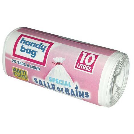 SAC POUBELLE HANDY BAG 10L X20 BLANC (Vendu par 1)