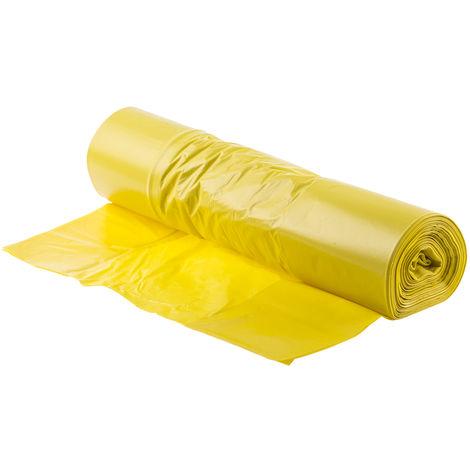 Sac poubelle Jaune, Plastique, quantité: 50 200