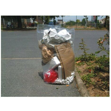 Sac poubelle transparent 110 lplan vigipirate - carton de 200 sacs