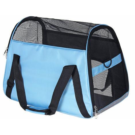 Sac Transport Chien Chat Portable pour Animal 52x24.5x33cm Bleu