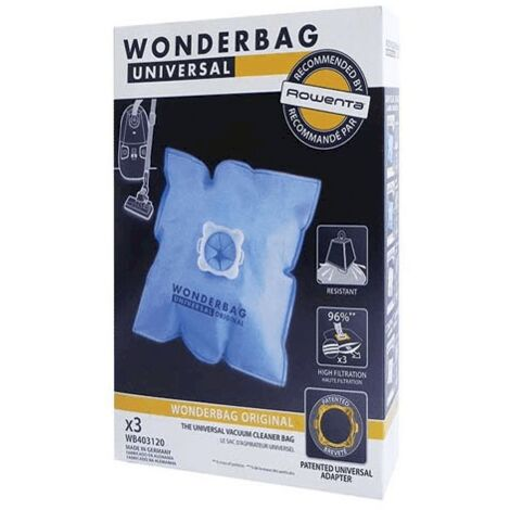 Sac Wonderbag Original X3 WB403120 Pour PIECES ASPIRATEUR NETTOYEUR PETIT ELECTROMENAGER