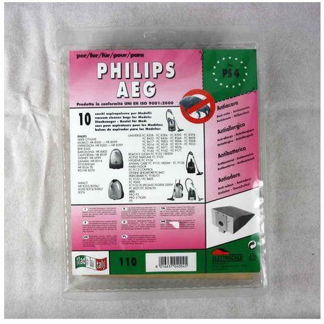 Elettrocasa PS5 Sacchetti ricambio per PHILPS e Elettrozeta