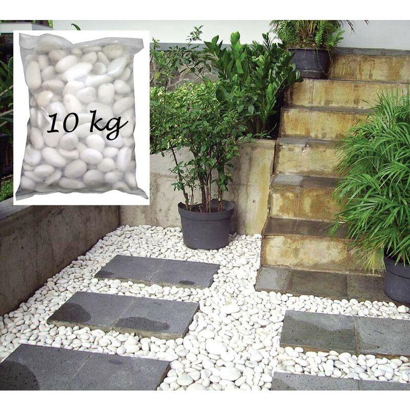 sacco 10 kg pietra levigata ciottoli sassi bianchi in