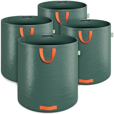 """main image of """"Sacco per rifiuti da giardino 4 x 500L = 2000L sacco da giardino con anello stabilizzatore sacco per foglie idrorepellente sacco da giardino pieghevole"""""""