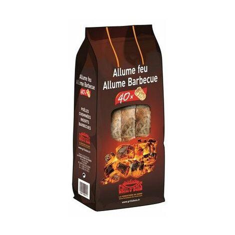 Sachet Allume Feu Et Barbecue40pces - GRILL O'BOIS