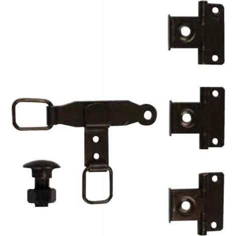 Sachet d'accessoires en acier phorétique noir pour Espagnolette plate