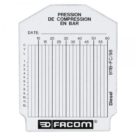 Sachet de 100 fiches de contrôle diesel