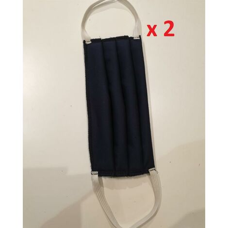 Sachet de 2 masques lavable 30x CHEWO - bleu - UNS1 AFNOR DGA
