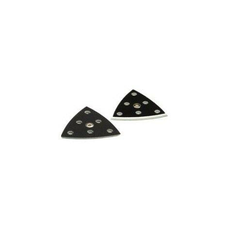 Sachet de 2 plateaux de ponçage dur pour ponceuse triangulaire DX93/RO90 - 488716
