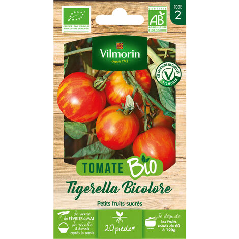 Sachet de graines Tomate Tigerella Bicolore BIO