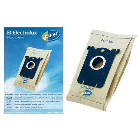 Sachet De Sacs Electrolux E 200 S-bag X5 E200 Pour PIECES ASPIRATEUR NETTOYEUR PETIT ELECTROMENAGER