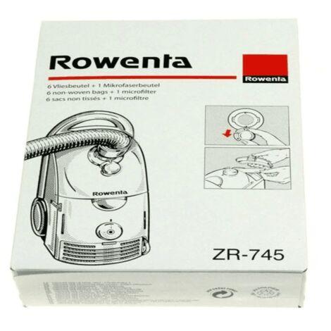 Sachet De Sacs Rowenta Dymbo ( X6) ZR745 Pour PIECES ASPIRATEUR NETTOYEUR PETIT ELECTROMENAGER