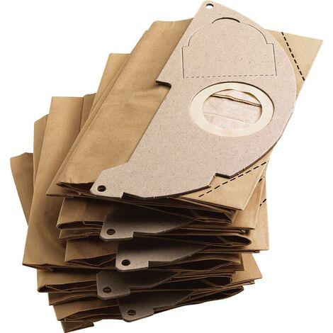 Sachet filtre KARCHER papier MV 2 / WD 2 / A 20xx - 5 pièces - 6.904-322.0