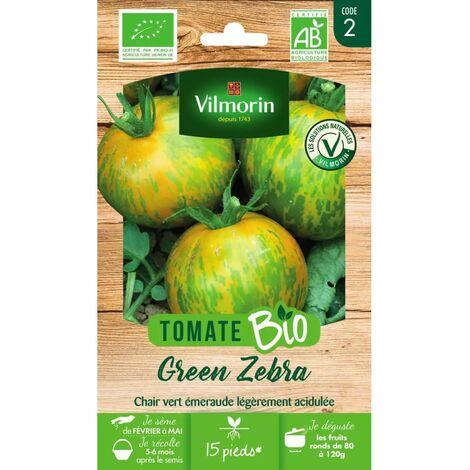 Sachet graines Tomate Green Zebra BIO