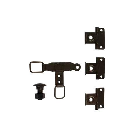 Sachet pour espagnolette plate TORBEL cataphorèse noire - 0612S14