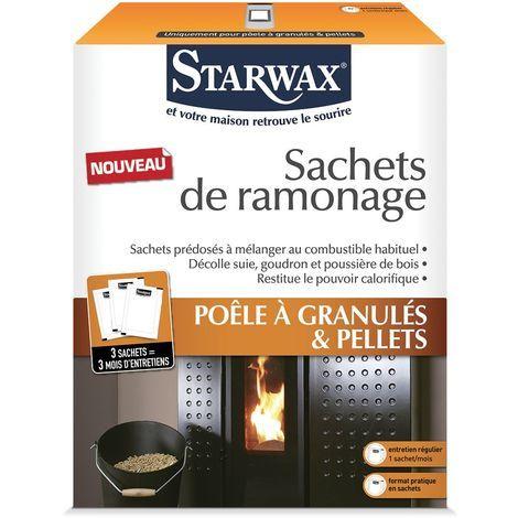 Sachets de ramonage pour poêle à granulés et pellets - Starwax