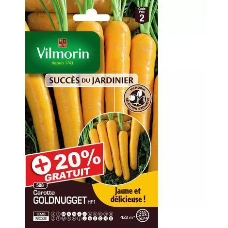 Sachets graines carottes Goldnugget HF1 +20% gratuit