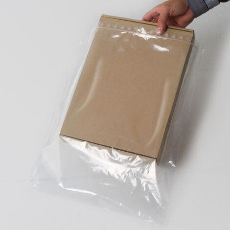 Sachets plastiques à fermeture ZIP 350x450mm standard 50µ