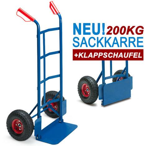 Sack Truck 200 KG Deuba Pneumatic Heavy Duty Wheels Handcart Barrow Trolley