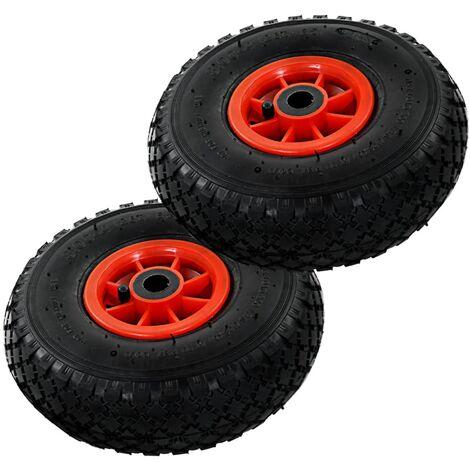 Sack Truck Wheels 2 pcs Rubber 3.00-4 (260x85)