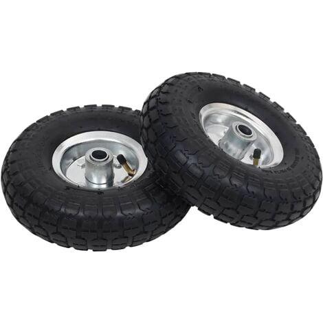 Sack Truck Wheels 2 pcs Rubber 4.10/3.50-4 (260x83)