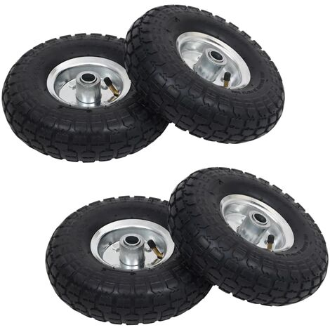 Sack Truck Wheels 4 pcs Rubber 4.10/3.50-4 (260x83)