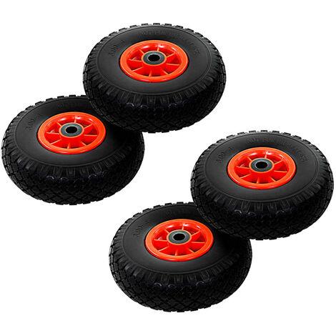 Sack Truck Wheels 4 pcs Solid PU 3.00-4 (260x85)