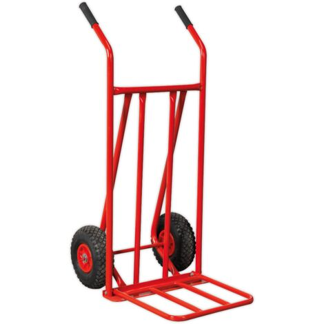 Sack Truck with Pneumatic Tyres 150kg Foldable Toe