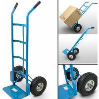 Sackkarre Transportkarre Stapelkarre Handkarre Sackrodel Karre Transport bis 200Kg mit Luftbereifung