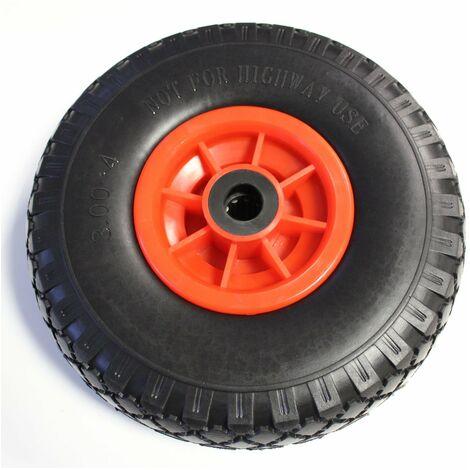 Sackkarrenrad Pannensicher 260mm 3.00-4 PU Sackkarre Ersatzrad Rad Reifen 75mm Achslager