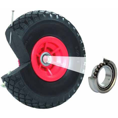 Sackkarrenrad Pannensicher 260x80 mm 3.00-4 PU Sackkarre Ersatzrad Rad Reifen