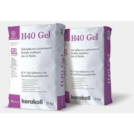 Saco cola Kerakoll H40 Gel blanco 25 kilos