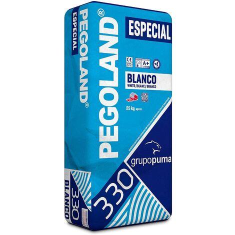 SACO DE 25 KG CEMENTO COLA PEGOLAND ESPECIAL C1 BLANCO