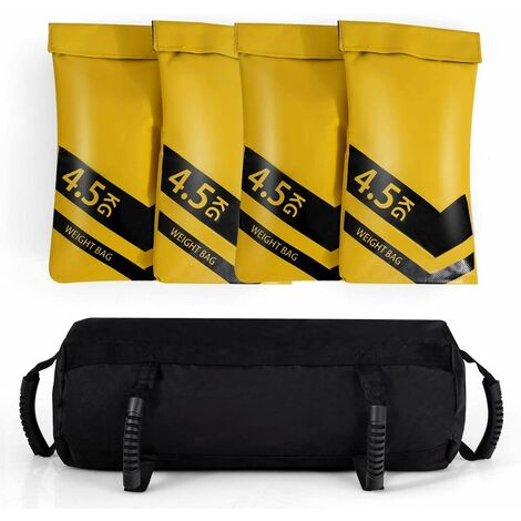 Saco de Arena para Entrenamiento Sandbag Kit Saco Peso para Gimnasio Hogar Fitness