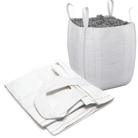 Saco obra Big Bag 90x90x165cm Bolsa transporte Escombros Cargas Residuos Construcción Albañilería