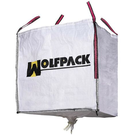 Saco Obra Big Bag 90x90x90cm. con Válvula. Carga máxima seg. 1.000Kg.