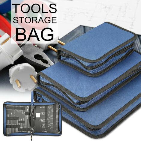 Sacoche à outils polyvalente Organisateur Sac de rangement pour outils Pochette Zip Case Box #L grand L
