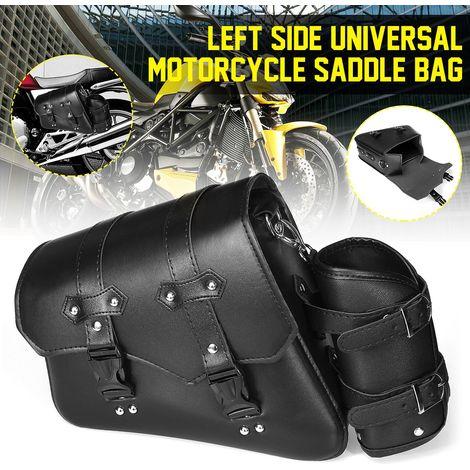 Sacoche de Selle de Moto Universel en Cuir PU Pour Harley Davidson Gauche
