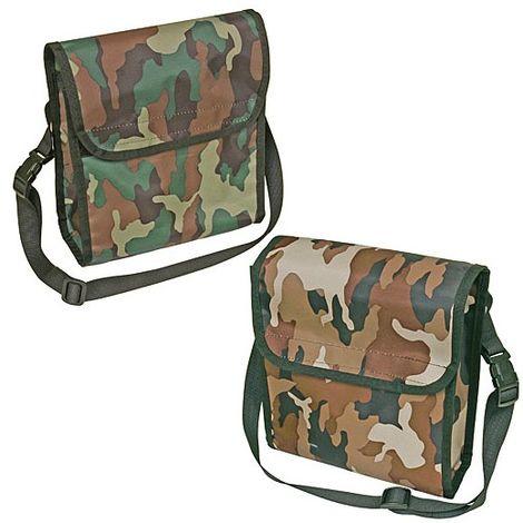 Sacoche porte accessoires en bandoulière ou ceinture Désignation : Sacoche camouflage vert MORIN SACK9