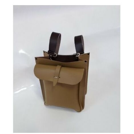 Sacoche porte-outils cuir 2 poches