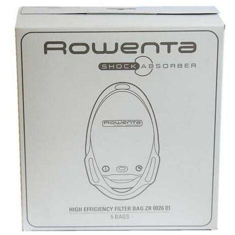 Sacs aspirateur zr002601 par 5 pour Aspirateur Rowenta
