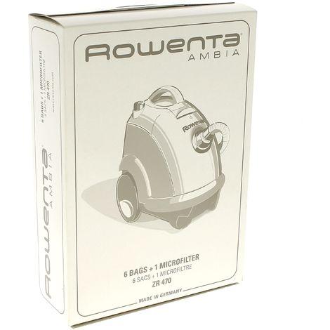Sacs aspirateur zr470 ambia par 6 pour Aspirateur Rowenta