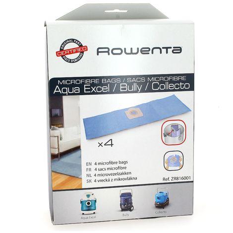 Sacs aspirateur zr816 par 4 pour Aspirateur Rowenta, Aspirateur Amsta