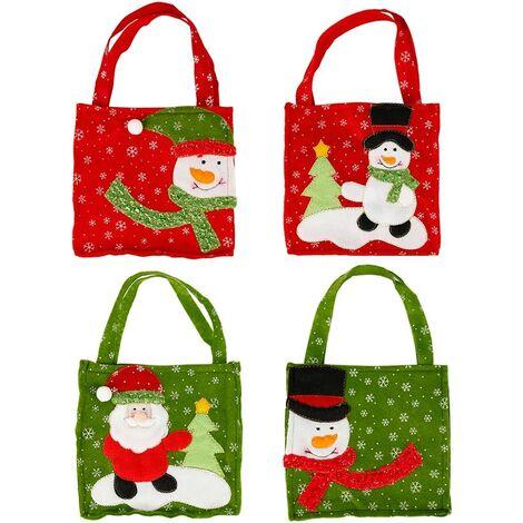 Sacs cadeaux de- Pour Noël ou la Saint-Nicolas - Décoration de Noël 4pcs