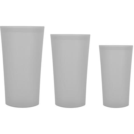 Sacs De Rangement Reutilisables En Silicone, 3 Pieces, Gris
