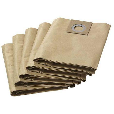 Sacs filtrant KARCHER papier 2 couches - Pour aspirateur NT 27/1 X 5 - 6.904-290.0