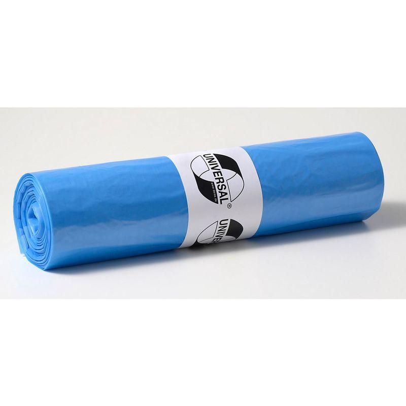 Certeo - Sacs plastique - capacité 120 l, l x h 700 x 1100 mm - épaisseur matériau 25 µm, bleu, lot de 500 - Coloris: Bleu
