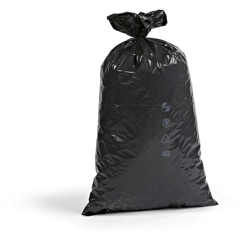 Sacs plastique - capacité 70 l, l x h 575 x 1000 mm, lot de 250 - épaisseur 55 µm, noir - Coloris: Noir