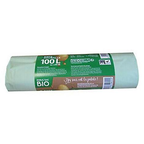 Sacs Poubelle 100L Biodégradable Rlx de 15