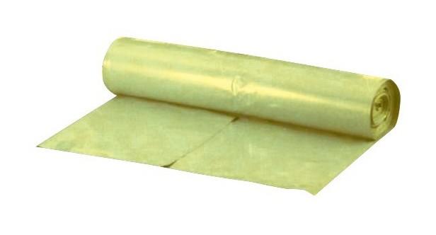 FP - Sacs poubelle 120 l jaune ca. 42 my Rouleau de 25 pièces. (Par 10)